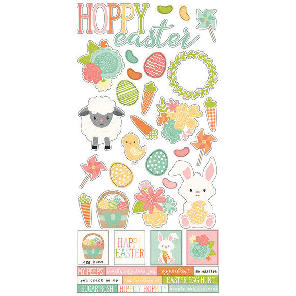 Simple Stories Cardstock Stickers - Bunnies & Baskets