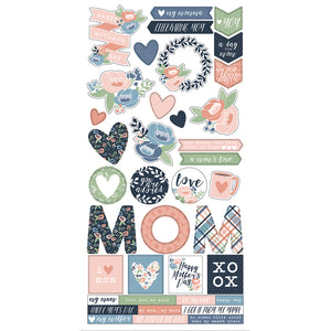 Simple Stories Cardstock Stickers - Mom's Day