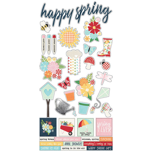 Simple Stories Cardstock Stickers - Springtime