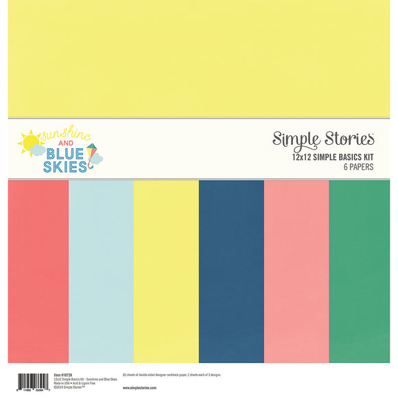 Simple Stories Basics Kit - Sunshine and Blue Skies