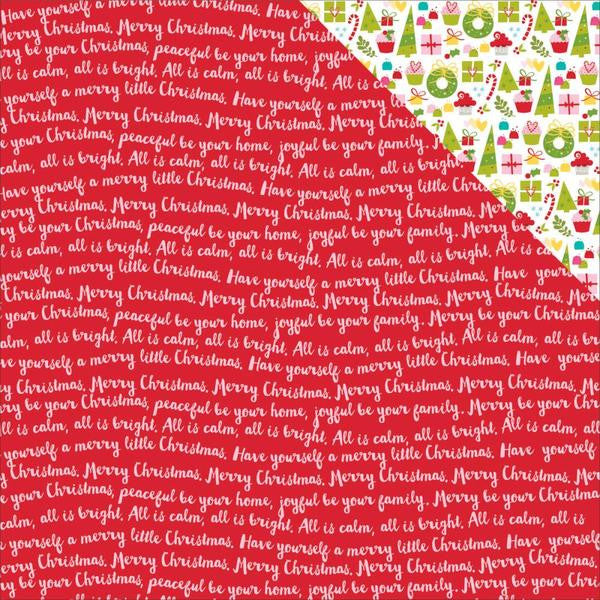 Bella Blvd Papers - Make It Merry - Fa La La - 2 Sheets