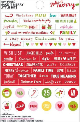 Bella Blvd Little Bits Stickers - Make It Merry