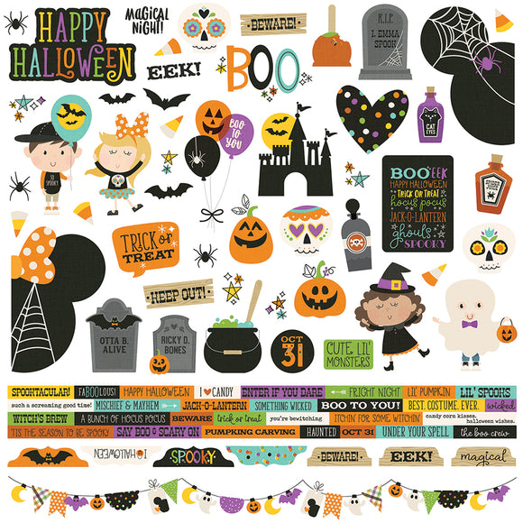 Simple Stories 12x12 Cardstock Stickers - Say Cheese Halloween - Combo