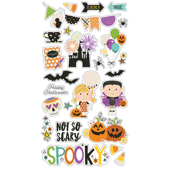 Simple Stories Adhesive Chipboard - Say Cheese Halloween - Icons