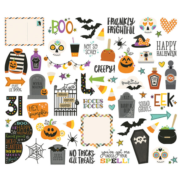 Simple Stories Bits & Pieces - Say Cheese Halloween - Icons & Phrases