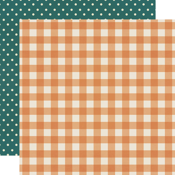 Simple Stories Papers - Fall Farmhouse - Pumpkin Spice - 2 Sheets