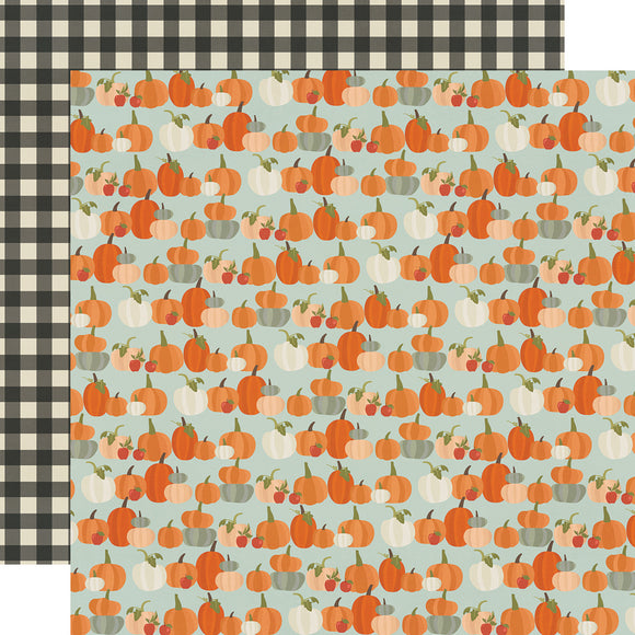 Simple Stories Papers - Fall Farmhouse - Lil' Pumpkin - 2 Sheets