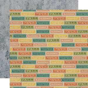 Simple Stories Papers - Fall Farmhouse - Harvesting Love - 2 Sheets