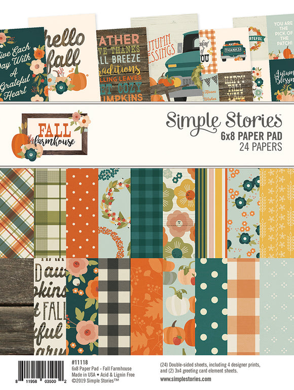 Simple Stories 6x8 Paper Pad - Fall Farmhouse