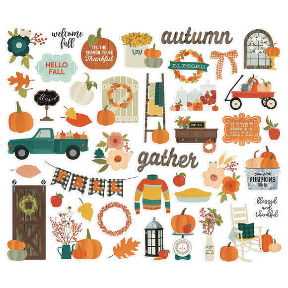 Simple Stories Bits & Pieces - Fall Farmhouse - Icons