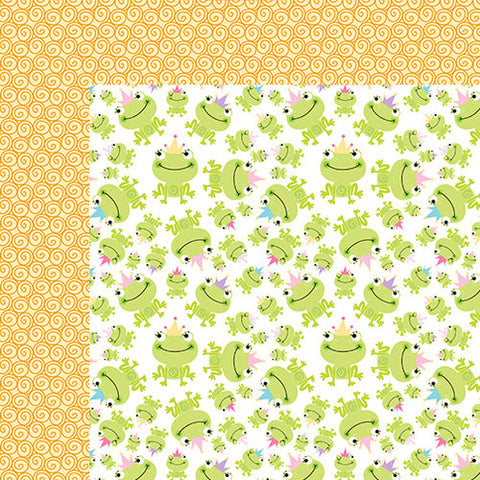 Bella Blvd Papers - Sweet Baby Girl - Princess Frog - 2 Sheets