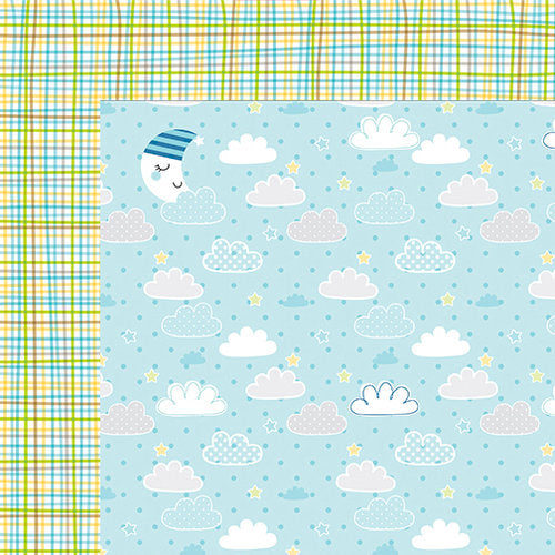 Bella Blvd Papers - Cute Baby Boy - Barely a Wink - 2 Sheets