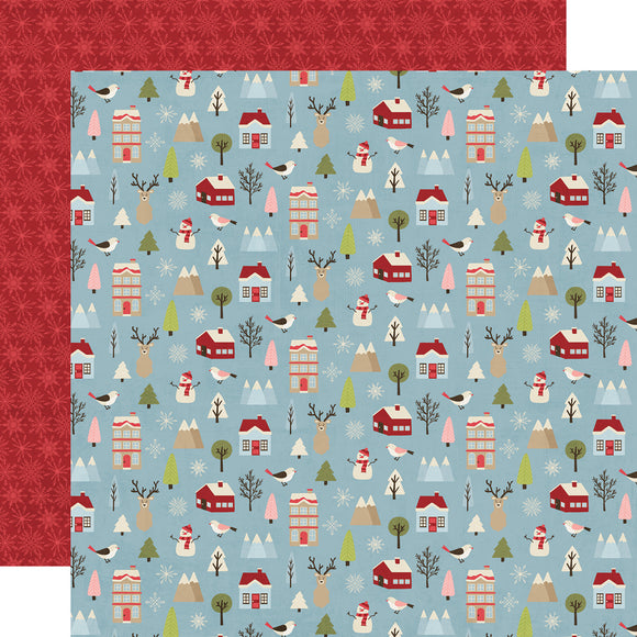 Simple Stories Papers - Holly Jolly - Winter Wonderland - 2 Sheets
