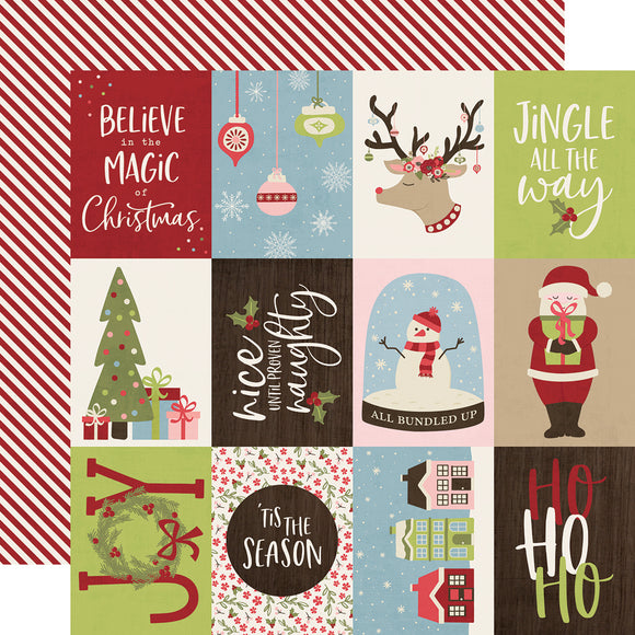 Simple Stories Cut-Outs - Holly Jolly - 3x4 Elements