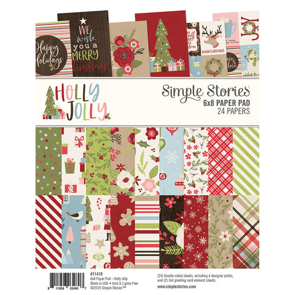 Simple Stories 6x8 Paper Pad - Holly Jolly