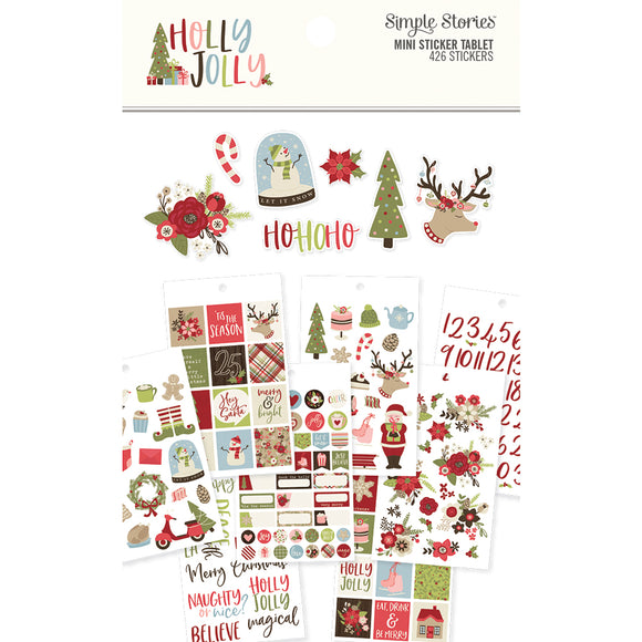 Simple Stories Mini Sticker Tablet - Holly Jolly