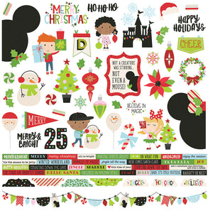 Simple Stories 12x12 Cardstock Stickers - Say Cheese Christmas - Combo