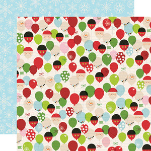 Simple Stories Papers - Say Cheese Christmas - Happy Place - 2 Sheets