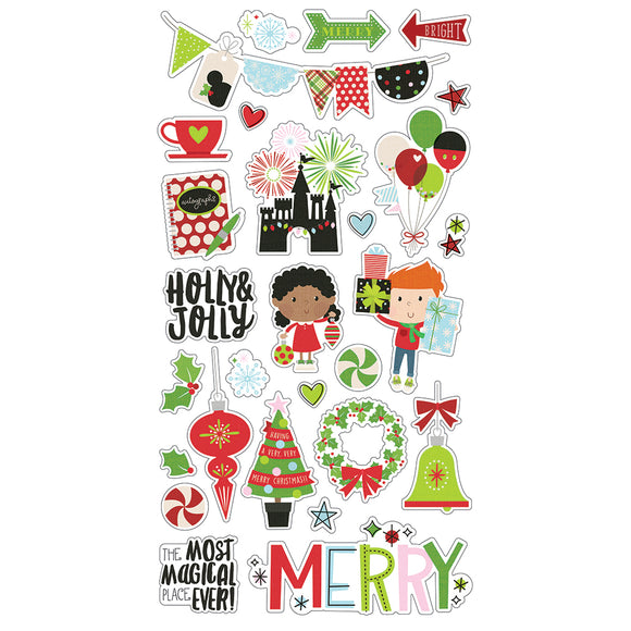 Simple Stories Adhesive Chipboard - Say Cheese Christmas - Icons