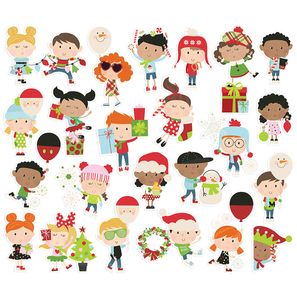 Simple Stories Bits & Pieces - Say Cheese Christmas - Happy Kids