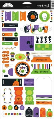 Doodlebug Design Cardstock Stickers - Halloween - Tags & Tabs