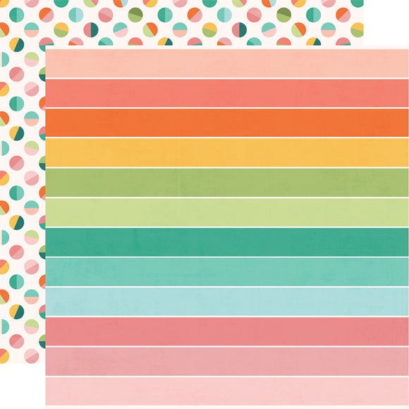 Simple Stories Papers - Hey, Crafty Girl - Crafty & Happy - 2 Sheets