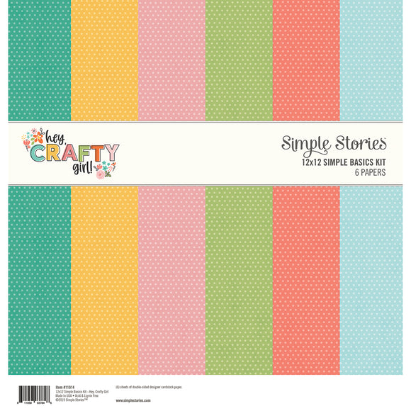 Simple Stories Basics Kit - Hey, Crafty Girl