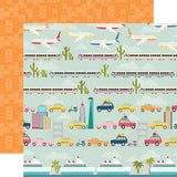 Simple Stories Papers - Going Places - Enjoy the Ride - 2 Sheets