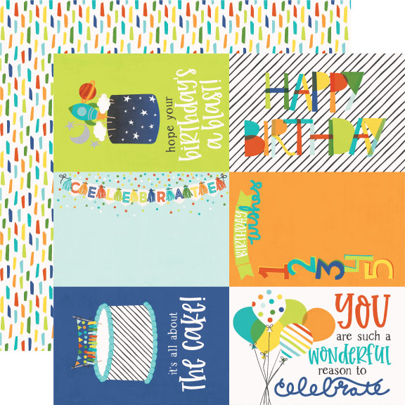 Simple Stories Cut-Outs - Birthday Blast - 4x6 Elements
