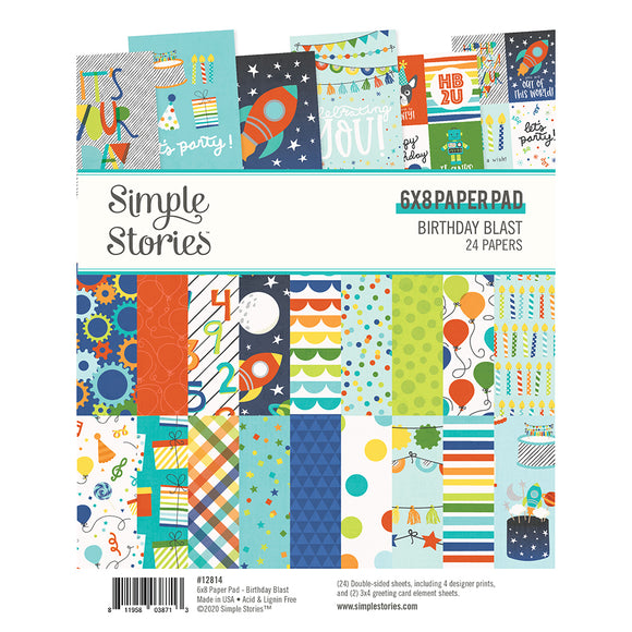 Simple Stories 6x8 Paper Pad - Birthday Blast