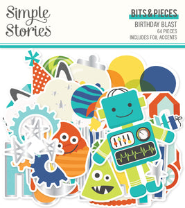 Simple Stories Bits & Pieces - Birthday Blast - Icons