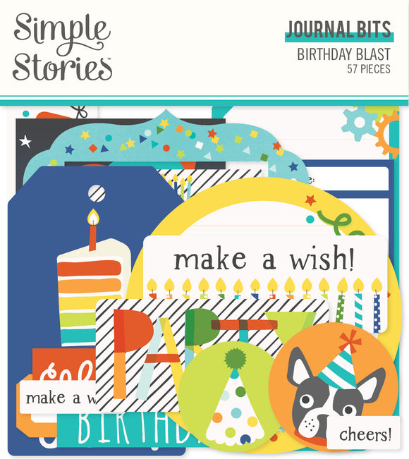 Simple Stories Bits & Pieces - Birthday Blast - Journaling