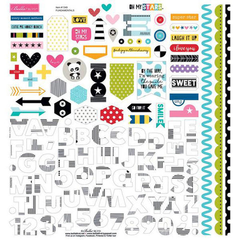 Bella Blvd 12x12 Cardstock Stickers - Oh My Stars - Fundamentals