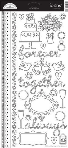 Doodlebug Design Cardstock Stickers - Wedding