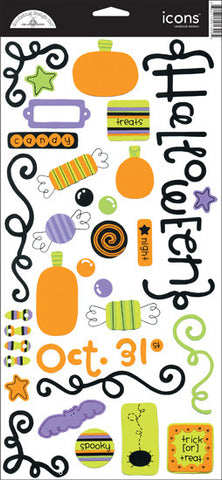 Doodlebug Design Cardstock Stickers - Trick or Treat