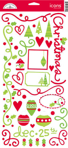 Doodlebug Design Cardstock Stickers - Jolly Holly Days