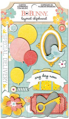 Bo Bunny Layered Chipboard - Baby Bump