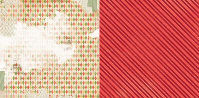 Bo Bunny Papers - Christmas Collage - Festive - 2 Sheets