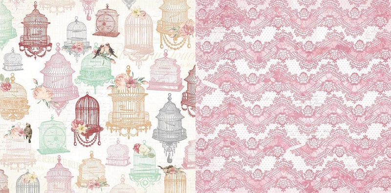 Bo Bunny Papers - Madeleine - Exquisite - 2 Sheets