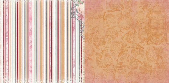 Bo Bunny Papers - Madeleine - Stripe - 2 Sheets