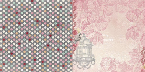 Bo Bunny Papers - Madeleine - Symmetry - 2 Sheets