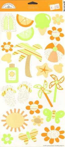 Doodlebug Design Cardstock Stickers - Obviously Orange