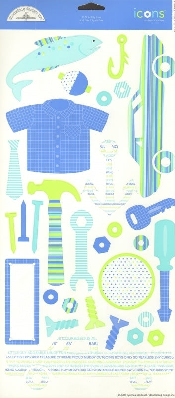 Doodlebug Design Cardstock Stickers - Boldly Blue