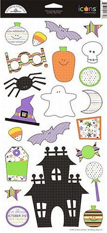 Doodlebug Design Cardstock Stickers - Hauntingly Halloween Icons