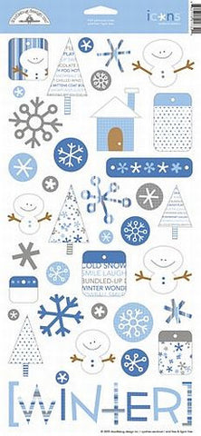 Doodlebug Design Cardstock Stickers - Whimsical Winter Icons