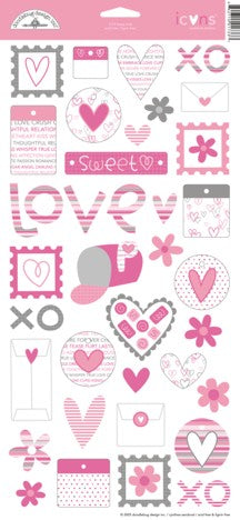 Doodlebug Design Cardstock Stickers - Loopy Love