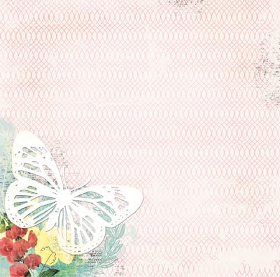 Bo Bunny Papers - Sweet Life - Wish - 2 Sheets
