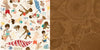 Bo Bunny Papers - Boardwalk - Carefree - 2 Sheets