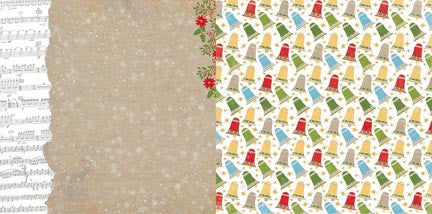 Bo Bunny Papers - Dear Santa - Burlap - 2 Sheets