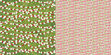 Bo Bunny Papers - Dear Santa - Popcorn - 2 Sheets